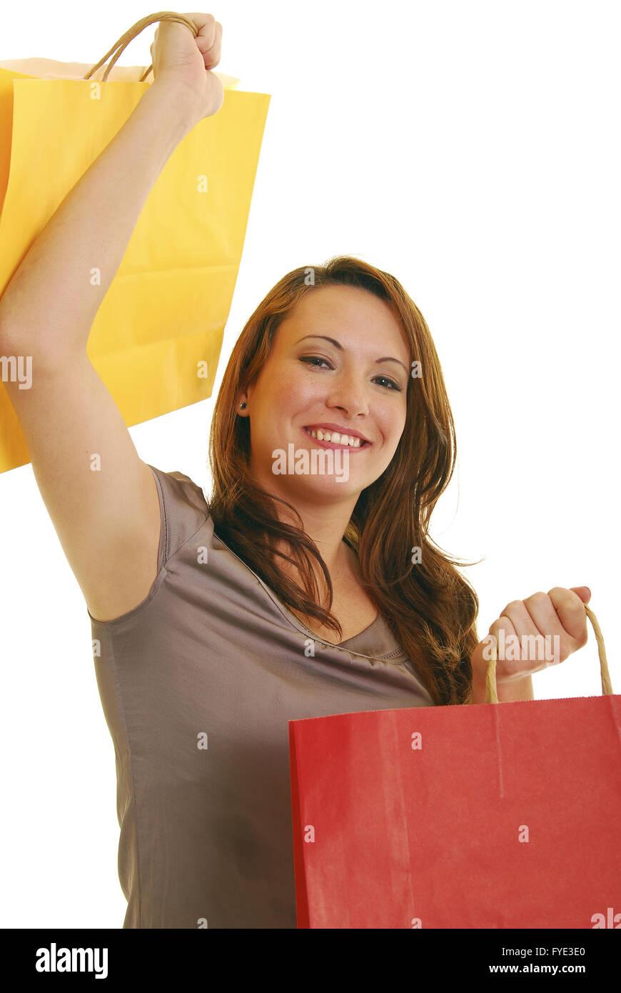Heureux avec les achats Photo Stock