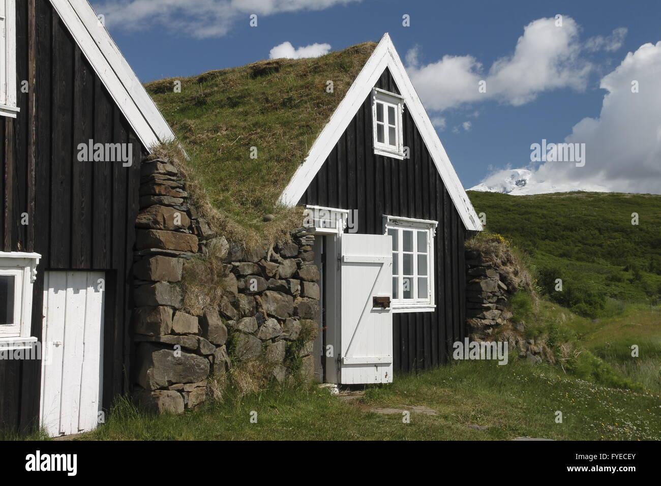 Une vieille maison de ferme de sel. Keflavík Photo Stock