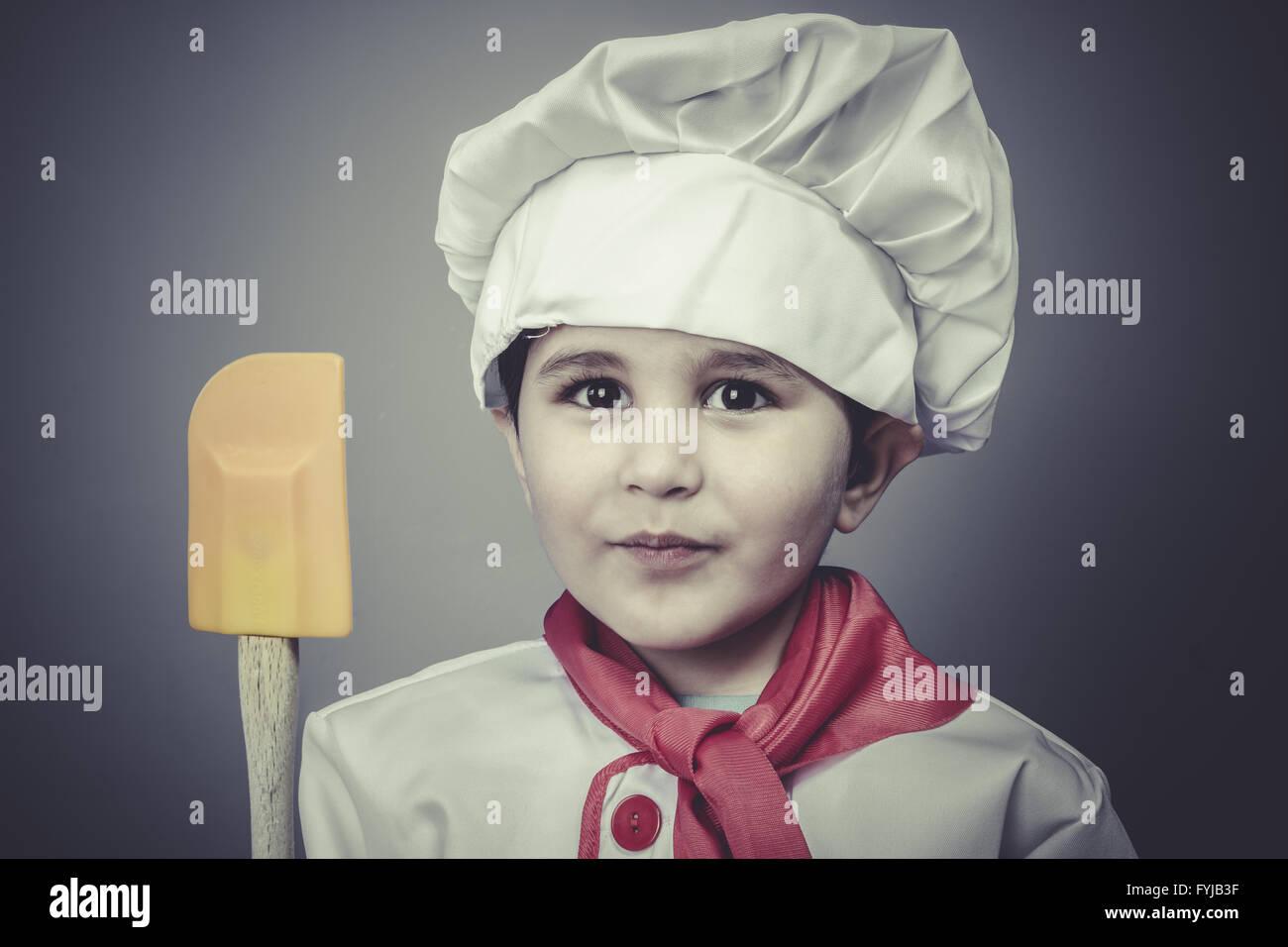 robe enfant baker chef dr le ustensiles de cuisson banque. Black Bedroom Furniture Sets. Home Design Ideas