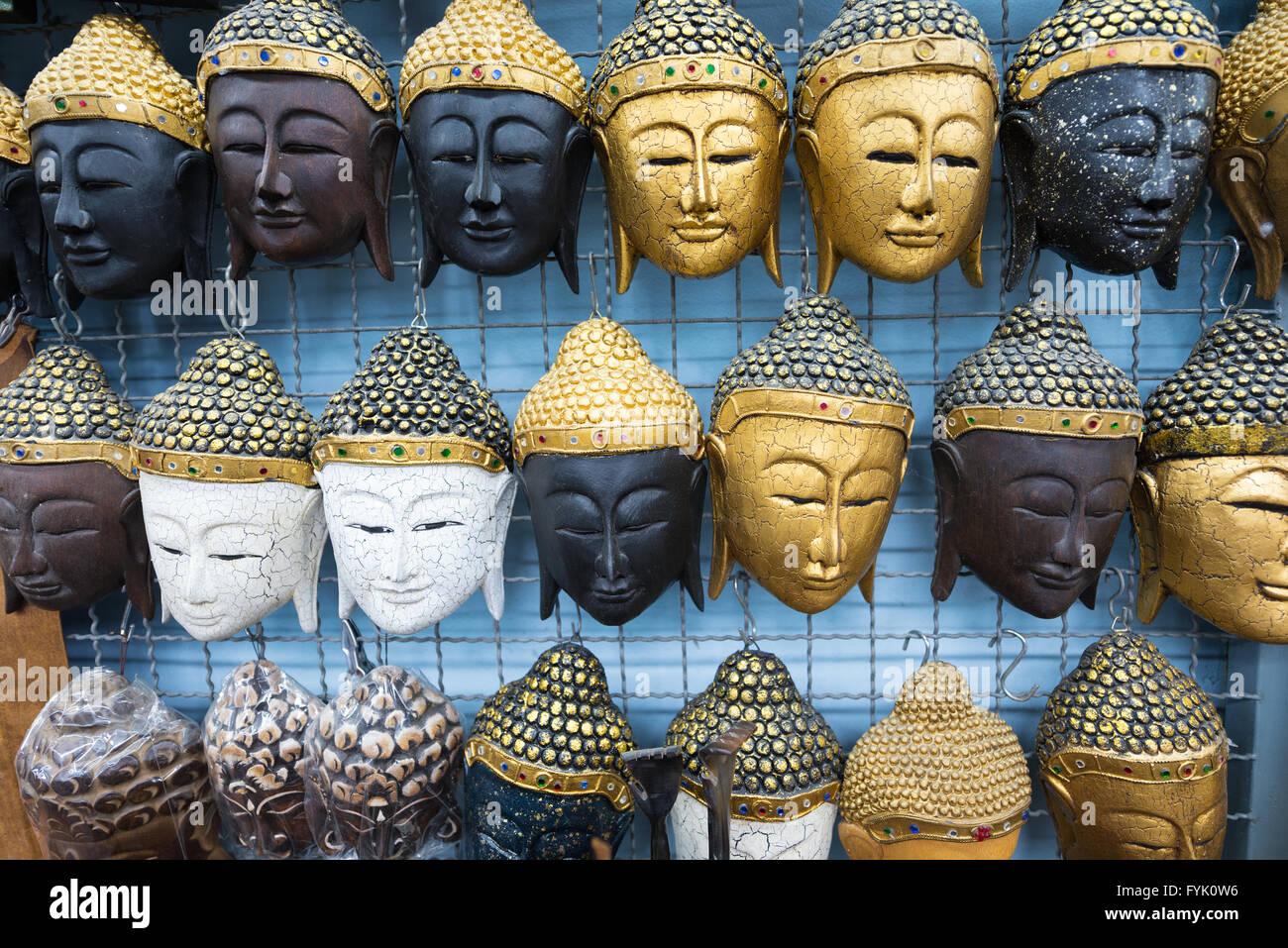 Chaussures 2018 charme de coût meilleur grossiste Masques thaïlandais de souvenirs Banque D'Images, Photo ...