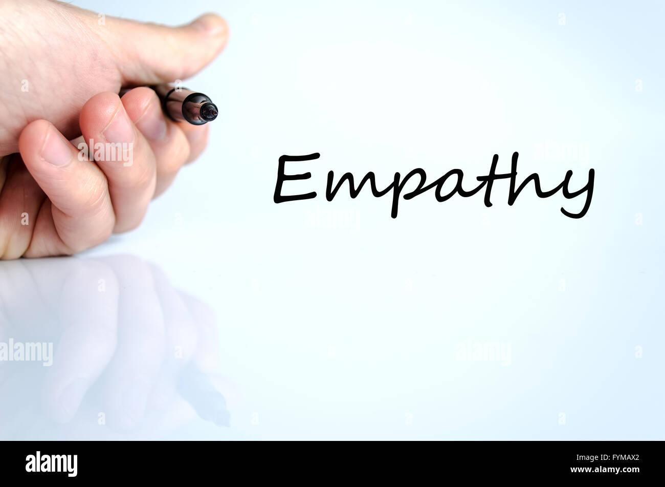 Concept de texte l'empathie Photo Stock