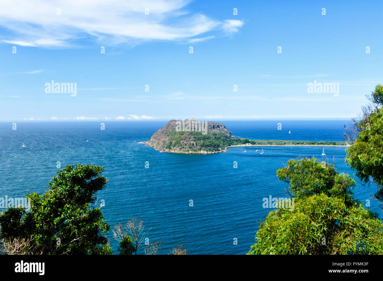 Vue de l'Ouest Chef Lookout, Ku-ring-gai Chase National Park, New South Wales, Australie Photo Stock