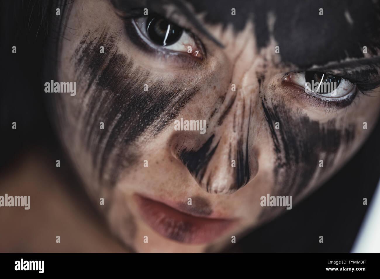 L'humain et l'âme noire Photo Stock
