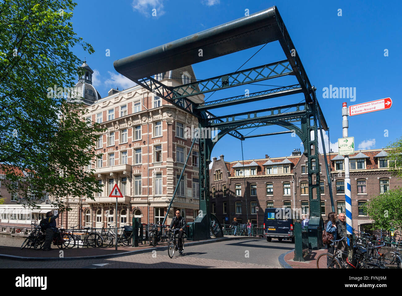Pont, NH Doelen Hotel, Amsterdam, Pays-Bas Photo Stock
