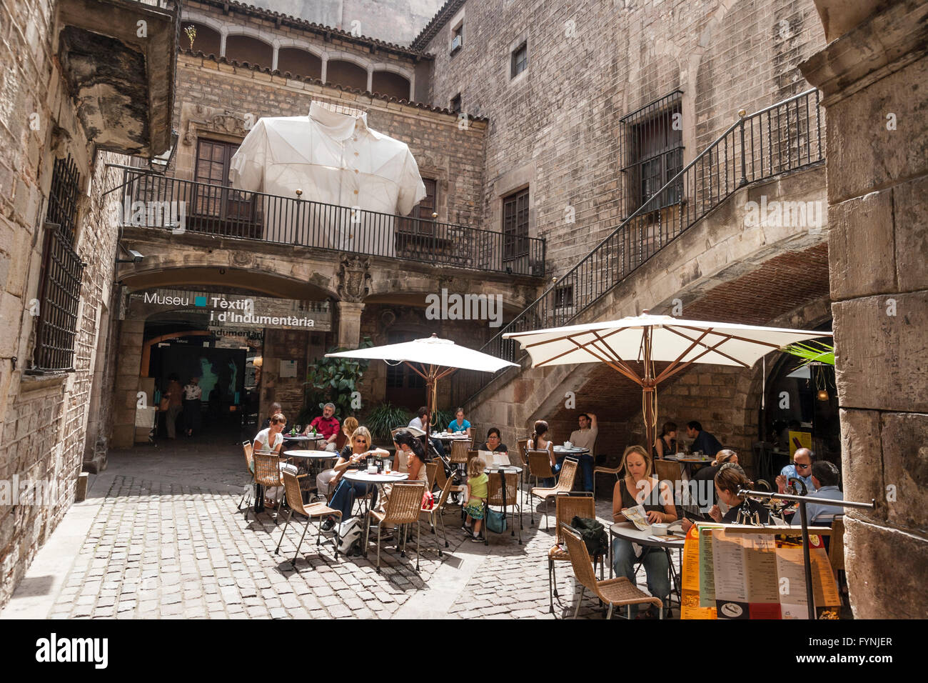 Musée du textile et de la mode, Barcelone Photo Stock
