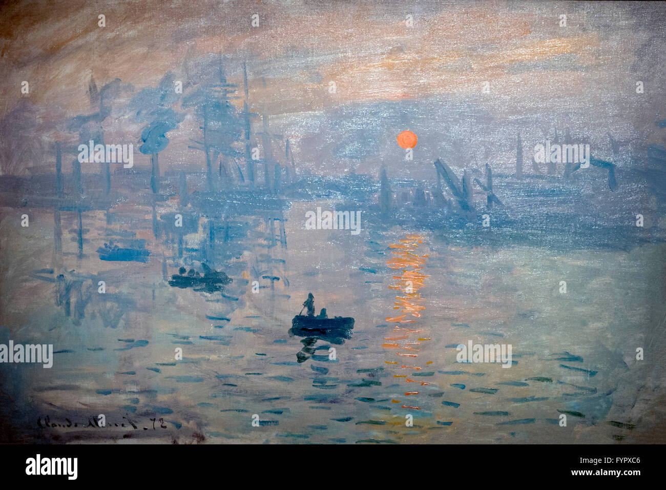 Impression le lever du soleil, par Claude Monet, 1872, Musée Marmottan Monet, Paris, France, Europe Banque D'Images