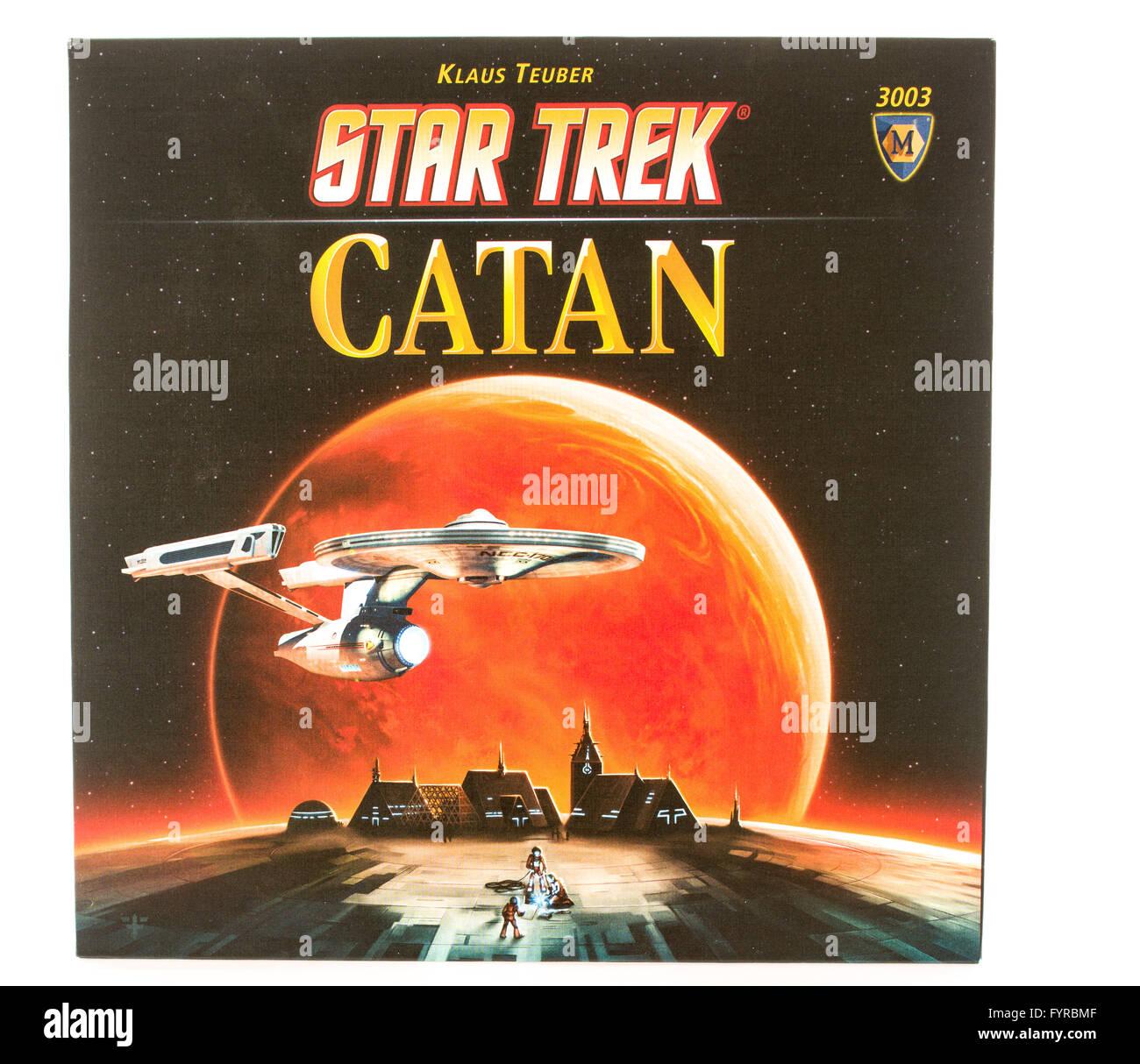Winneconni, WI - 12 juin 2015: fort de la populaire jeu de Catane dans Star Trek edition. Banque D'Images