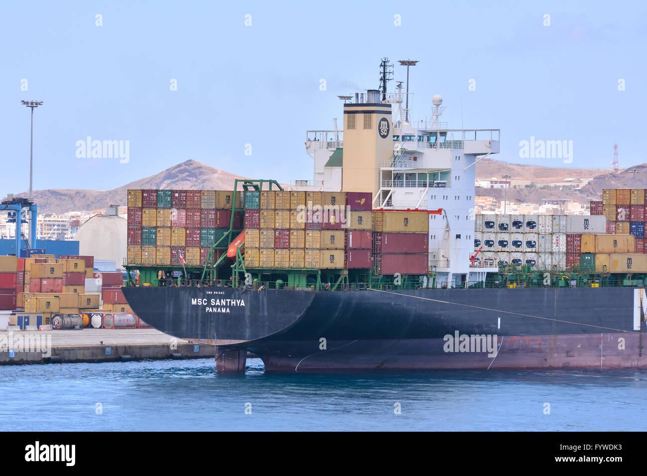 Bâtiment industriel éditoriale dans le Port Photo Stock