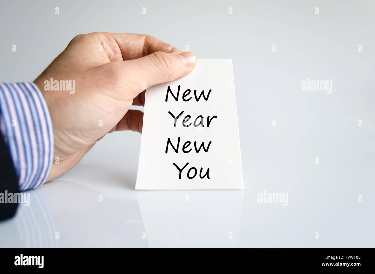 Nouvelle année, nouveau concept de texte vous Photo Stock