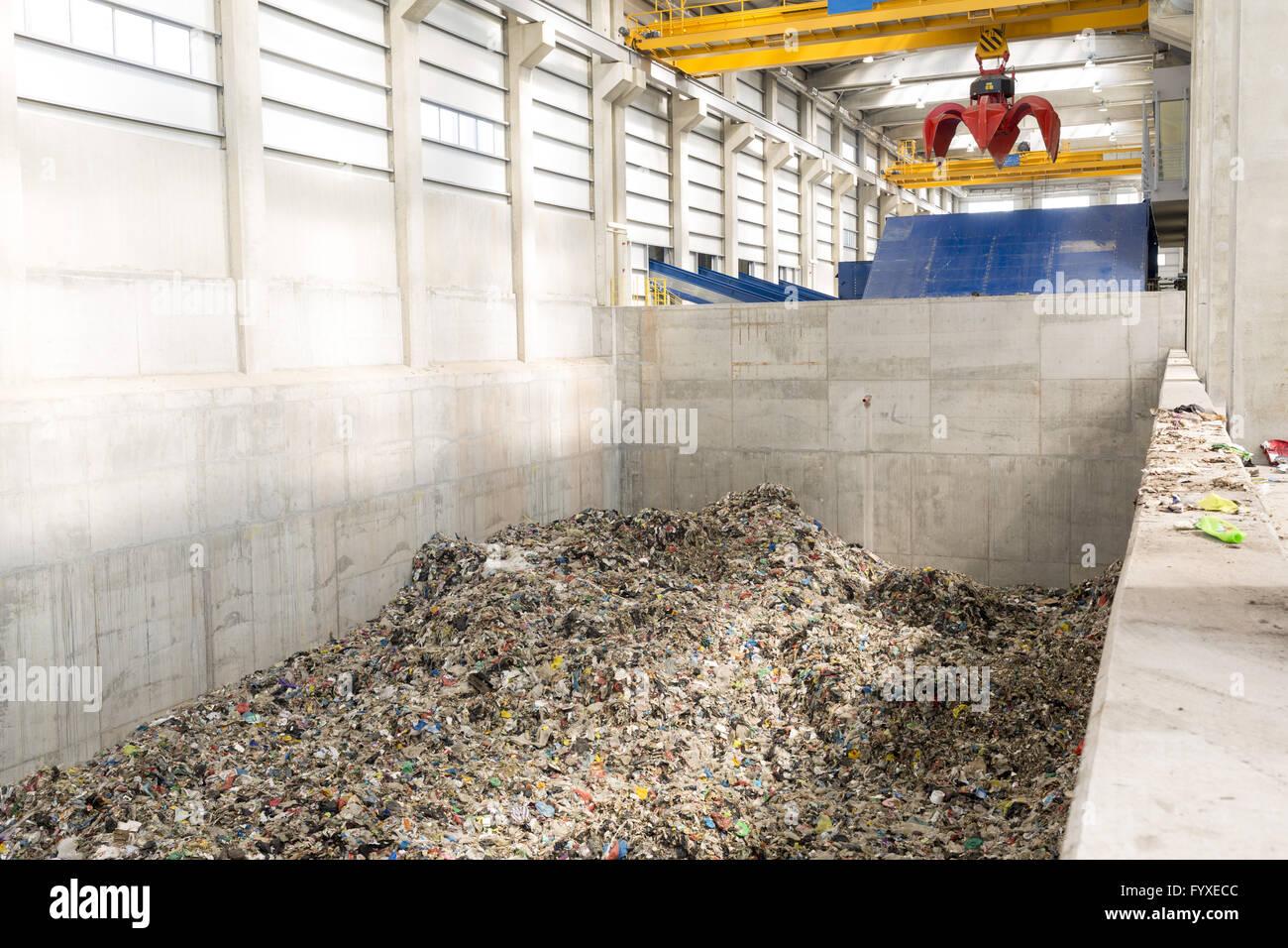 L'installation de gestion des déchets Photo Stock