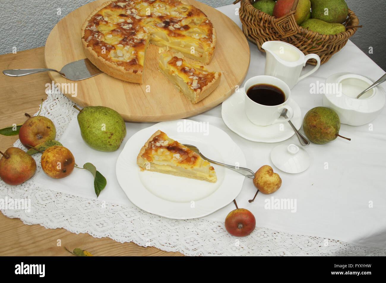 Gâteau poire Photo Stock