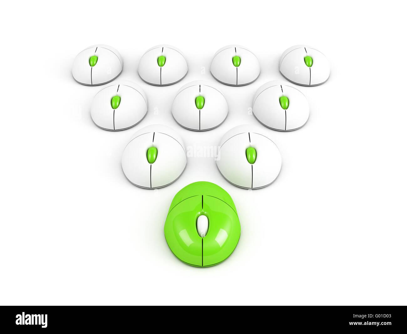 L'ordinateur le plus vert conception de leadership Photo Stock