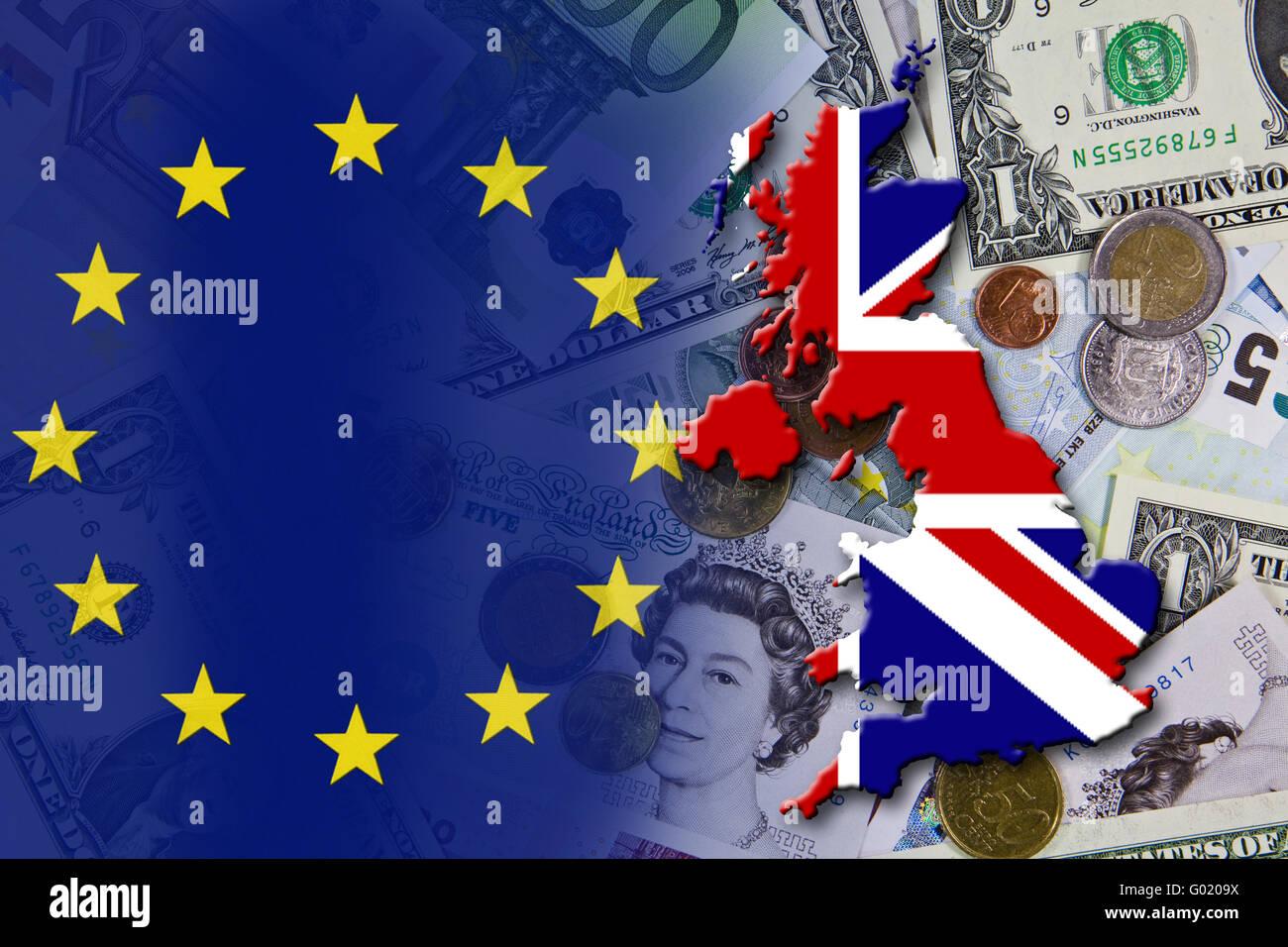 Crise financière et économique dans la zone euro en Europe, le pays Angleterre Photo Stock