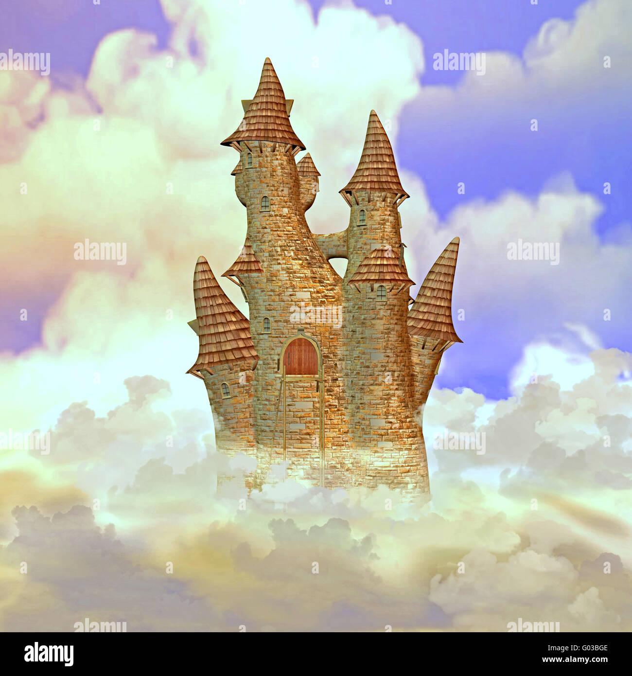 Château dans les nuages Photo Stock