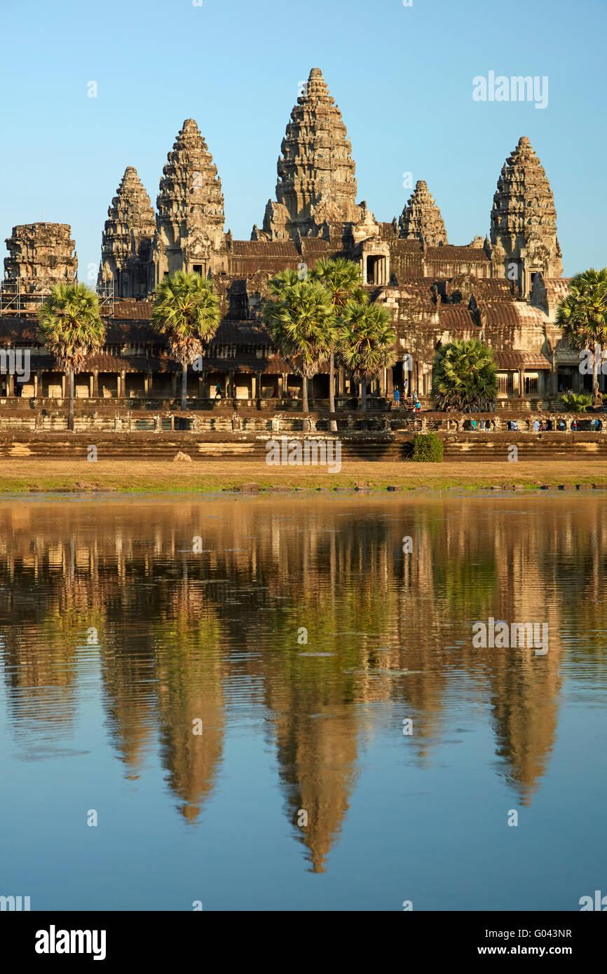 Angkor Wat temple Complex (12ème siècle), site du patrimoine mondial d'Angkor, Siem Reap, Cambodge Photo Stock