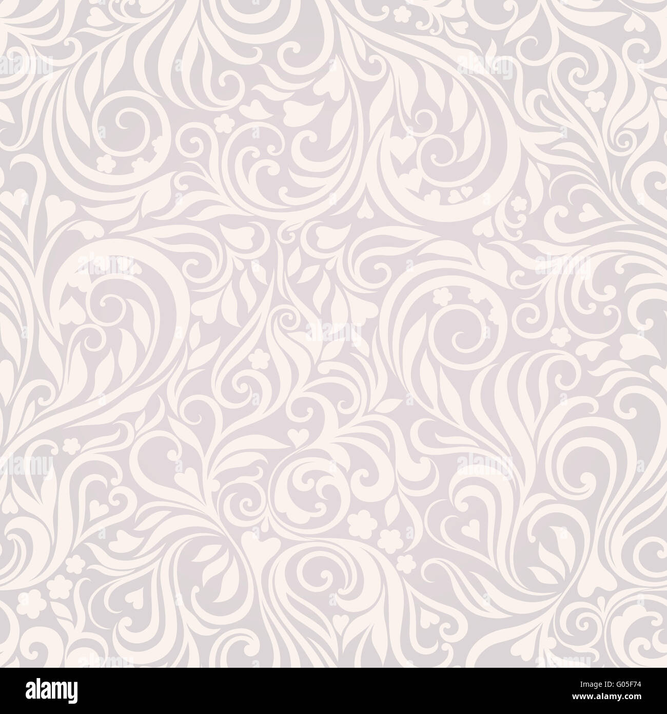 Fond lightgray florale Photo Stock