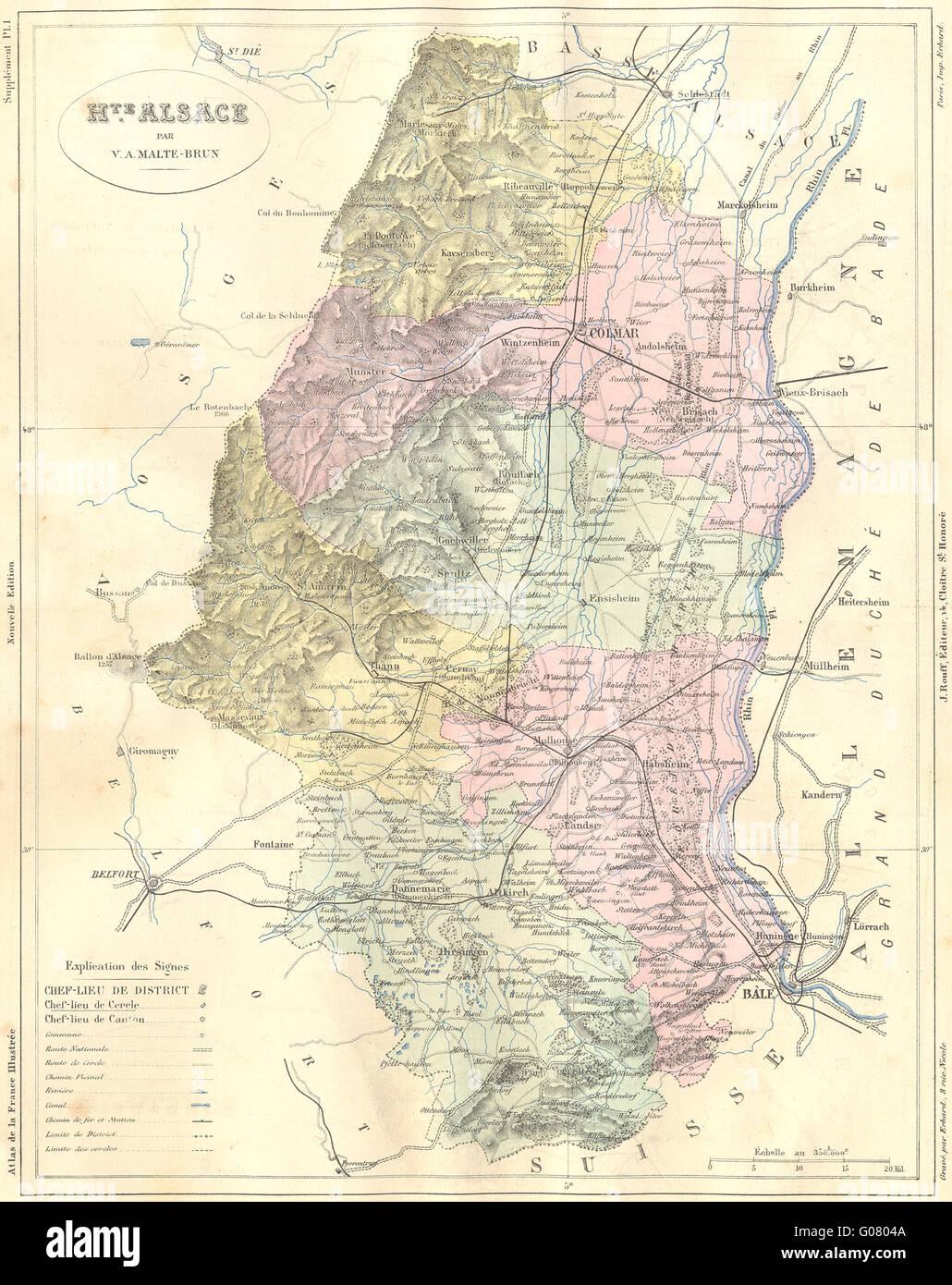 Carte Haute Alsace.Alsace Map Photos Alsace Map Images Alamy