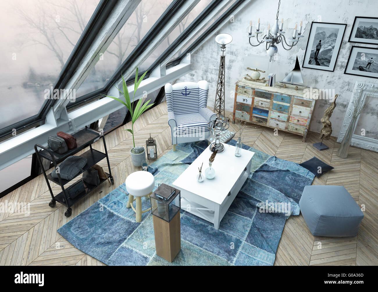 L Angle Interieur De L Architecture Haut Salon Moderne Avec