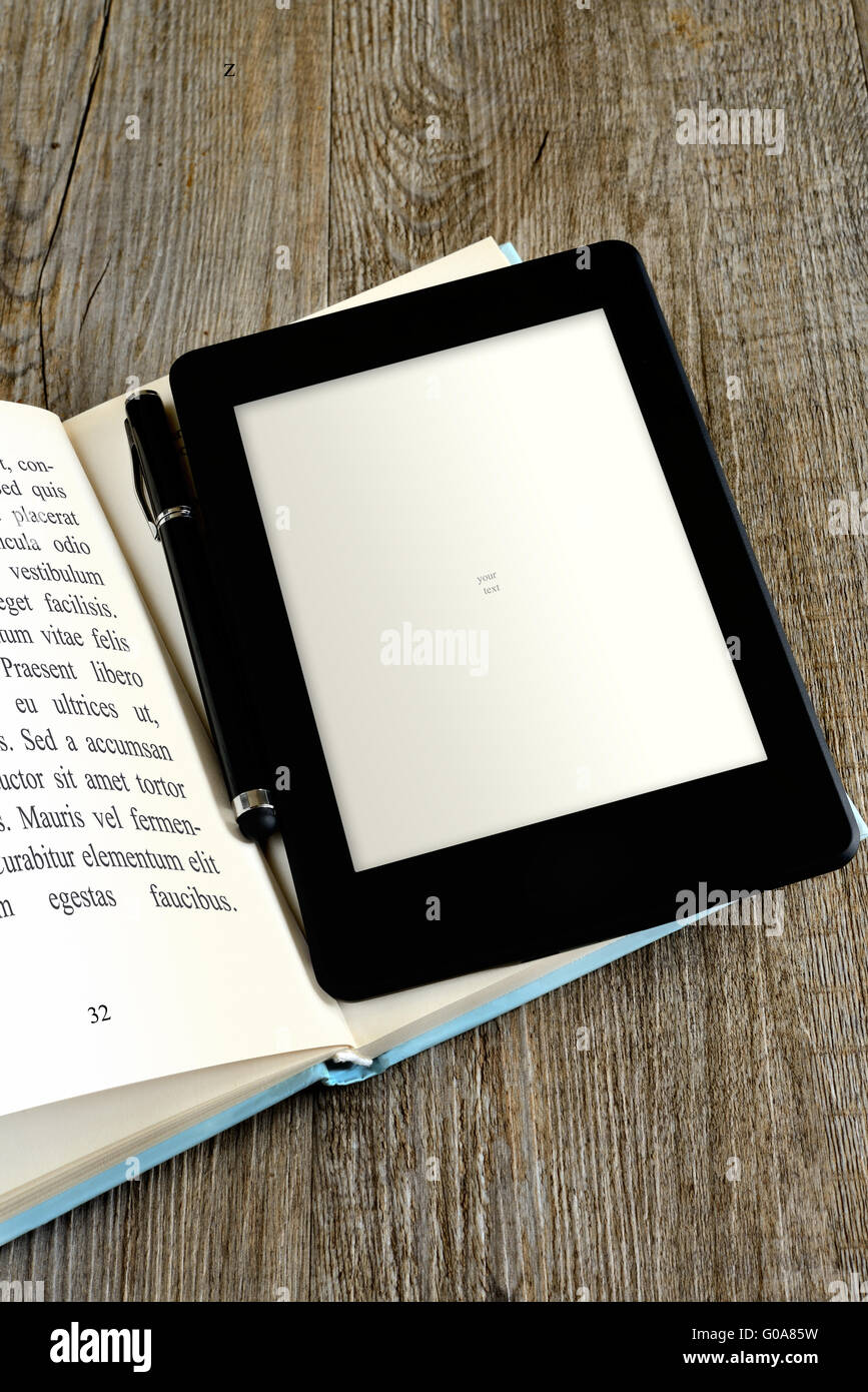 Blank ebook reader Banque D'Images