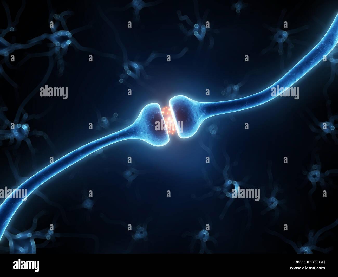 Rendu 3d illustration d'un récepteur actif Photo Stock
