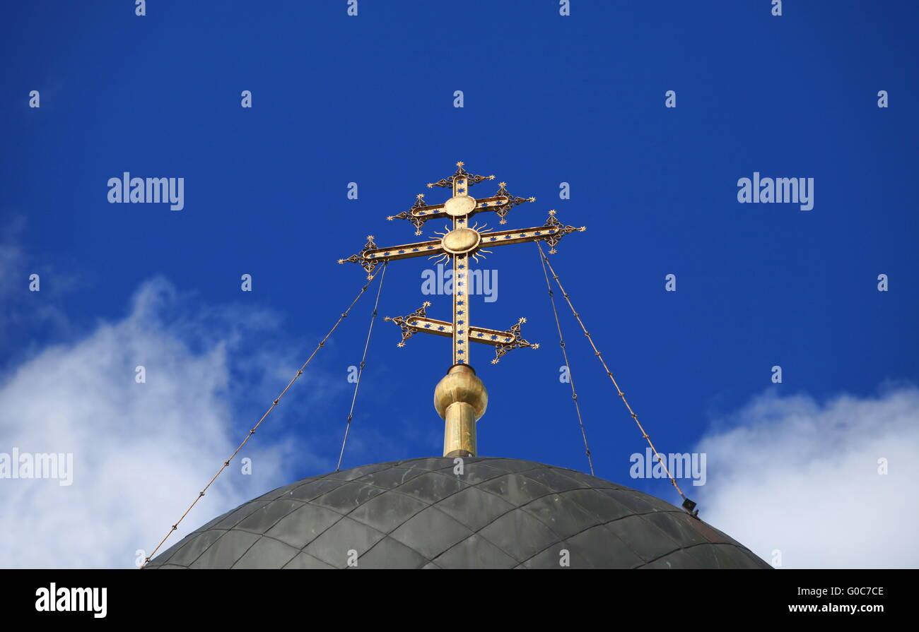 Croix dorée Photo Stock
