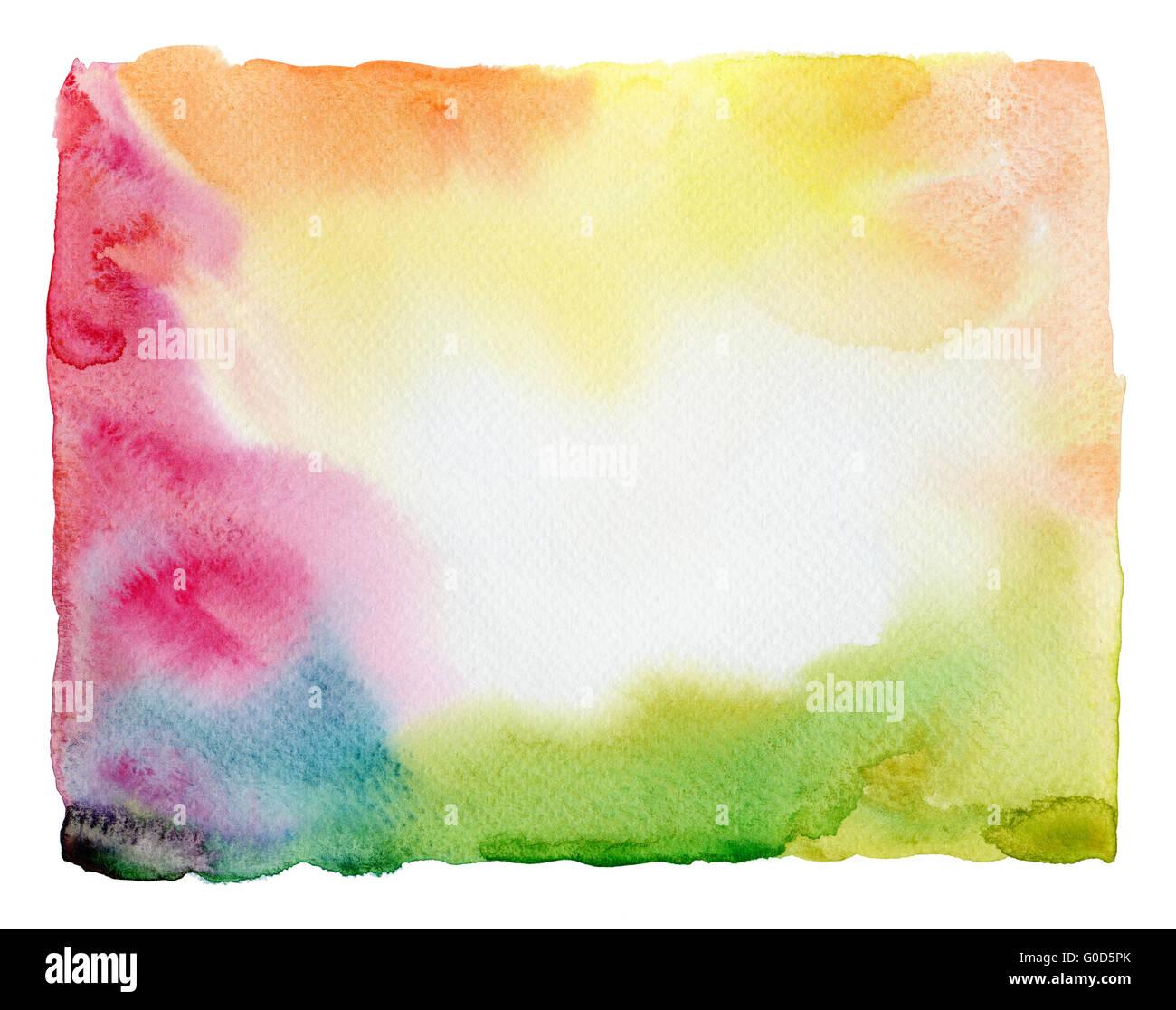 Résumé fond peint à l'aquarelle Photo Stock
