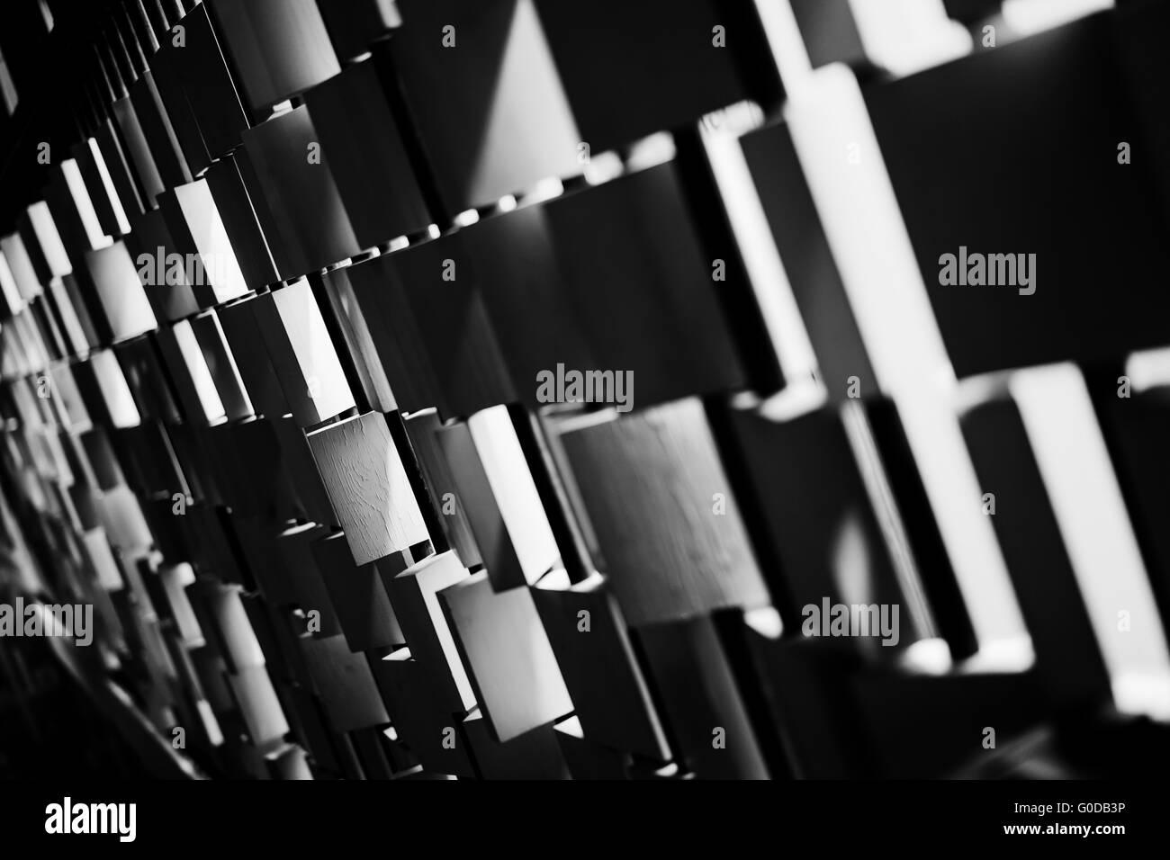 Carrelage noir et blanc.jpg Photo Stock
