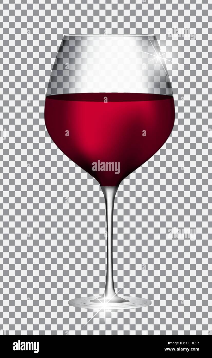 grand verre de vin rouge sur fond transparent illustra vecteur vecteurs et illustration image. Black Bedroom Furniture Sets. Home Design Ideas
