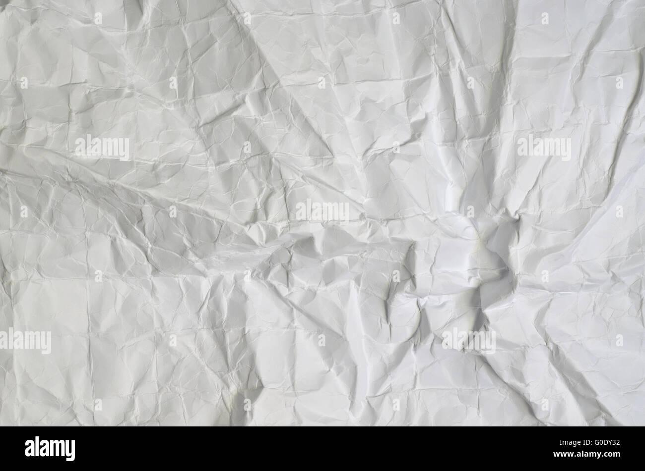 Gros plan d'une texture de papier blanc, plié, full frame, horizontal Photo Stock