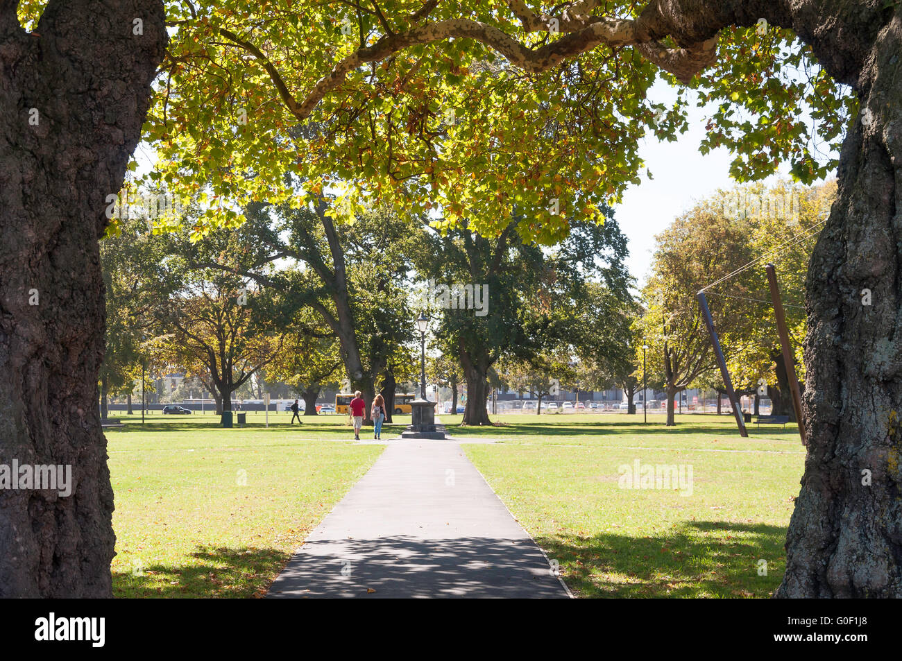Latimer Square, Hereford Street, Christchurch, Canterbury, Nouvelle-Zélande Photo Stock