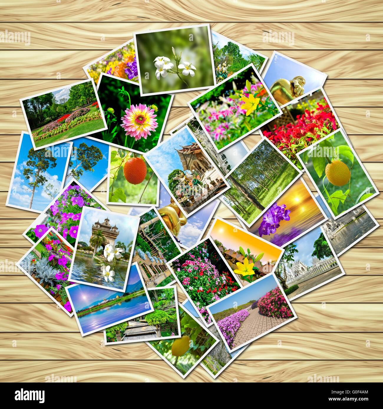 Une pile de photos Photo Stock