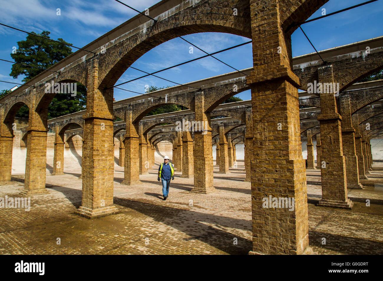 Londres victorien Resevoir Photo Stock