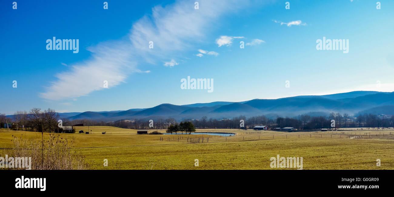 Paysages de montagne de la Virginie de l'ouest Banque D'Images