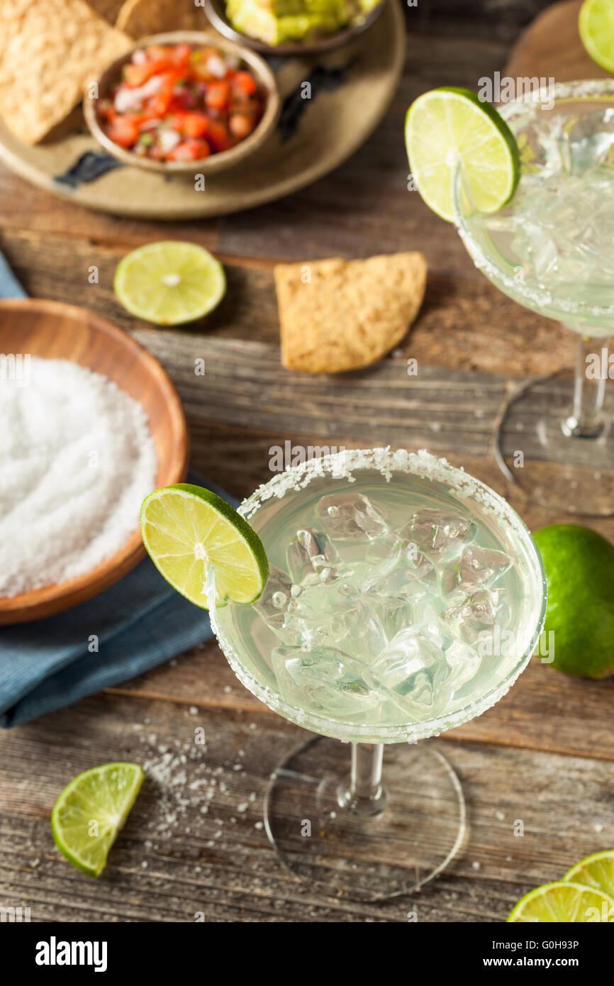 Maison rafraîchissante Margarita classique avec de la chaux et de sel Photo Stock