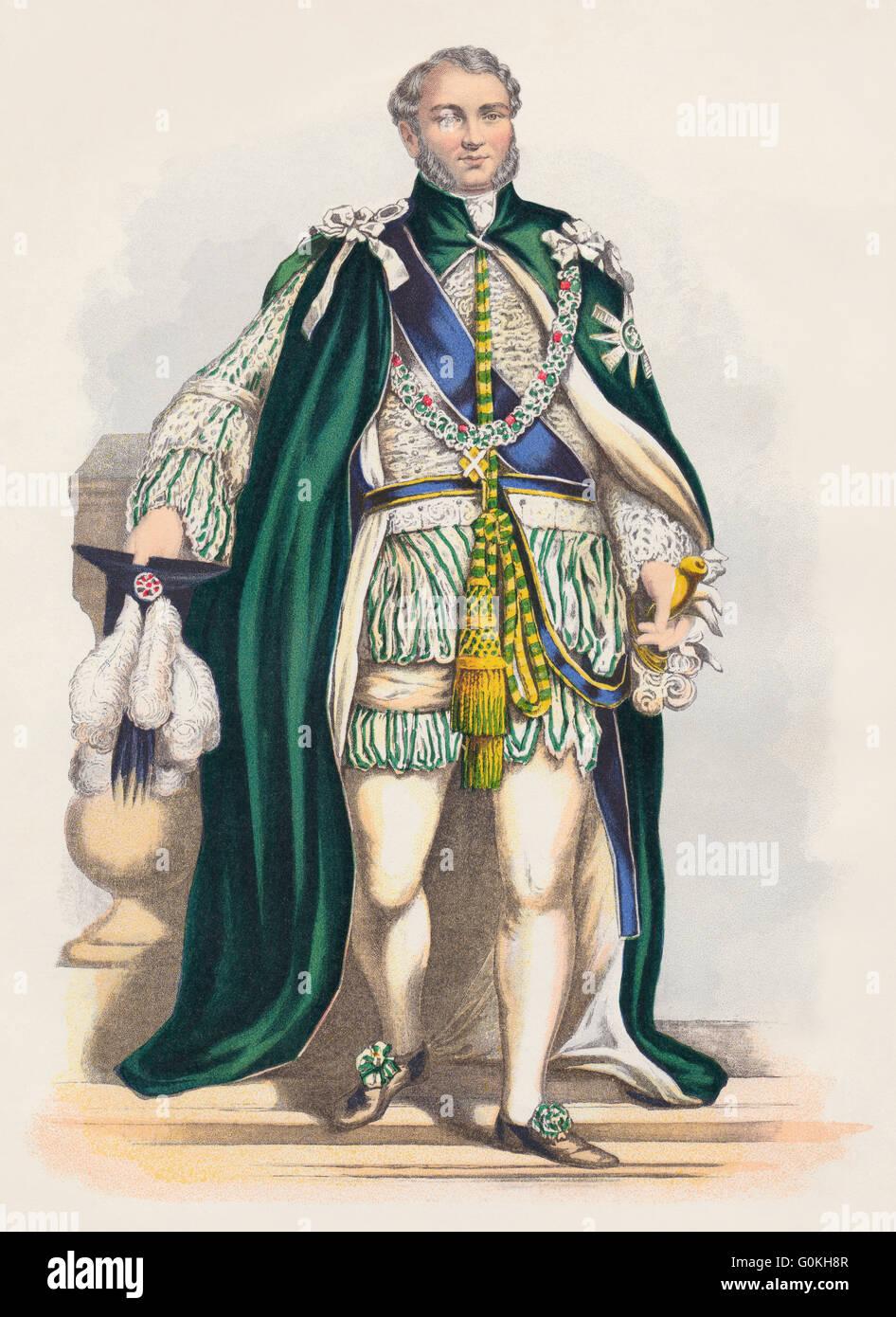 Le Prince Augustus Frederick, duc de Sussex, 1773-1843, dans les robes d'un Chevalier de l'Ordre du Chardon Photo Stock