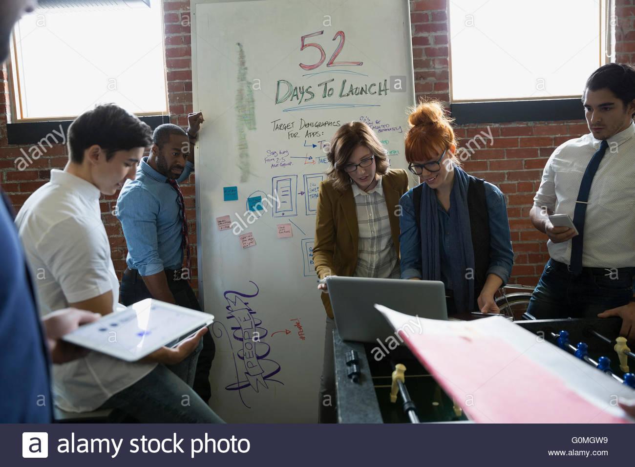 Brainstorming Entrepreneurs in office Photo Stock