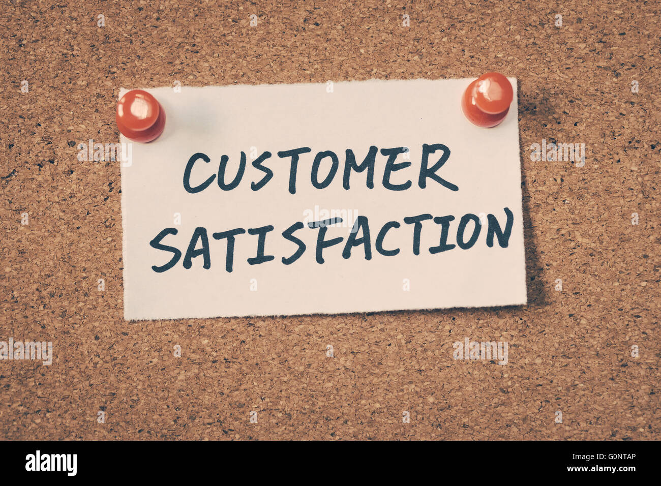La satisfaction du client Photo Stock