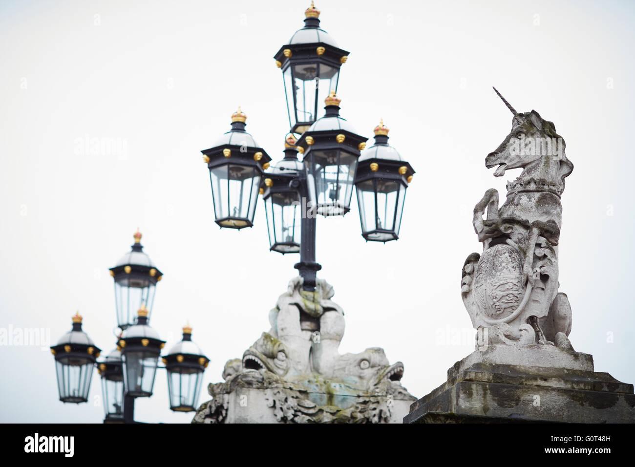 Au Palais de Buckingham Gate accueil de la Reine histoire historique en fer forgé de qualité important Photo Stock