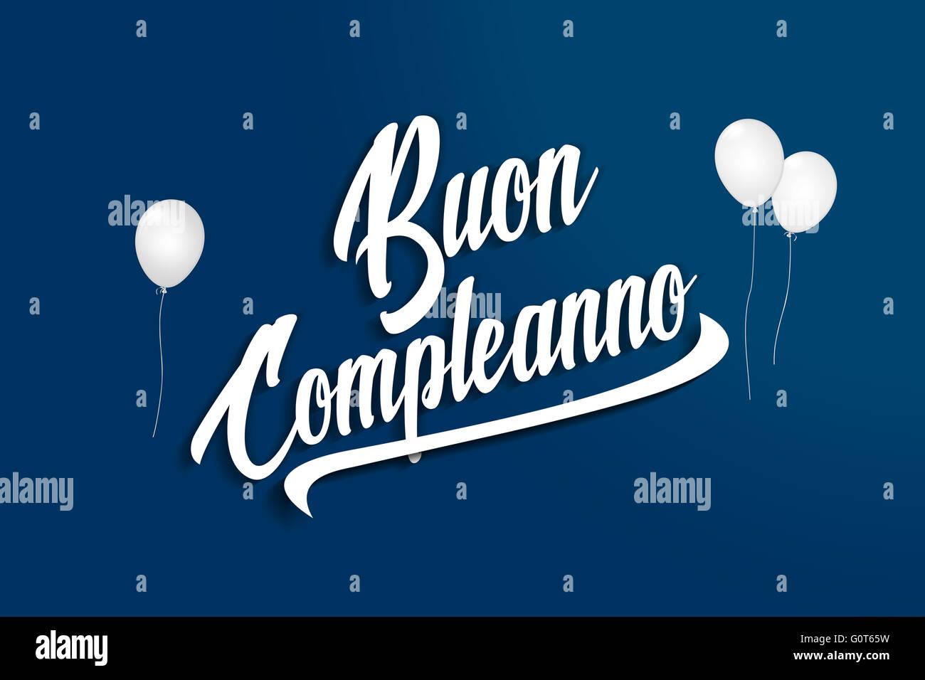 Buon Compleanno Joyeux Anniversaire En Italien Ballons