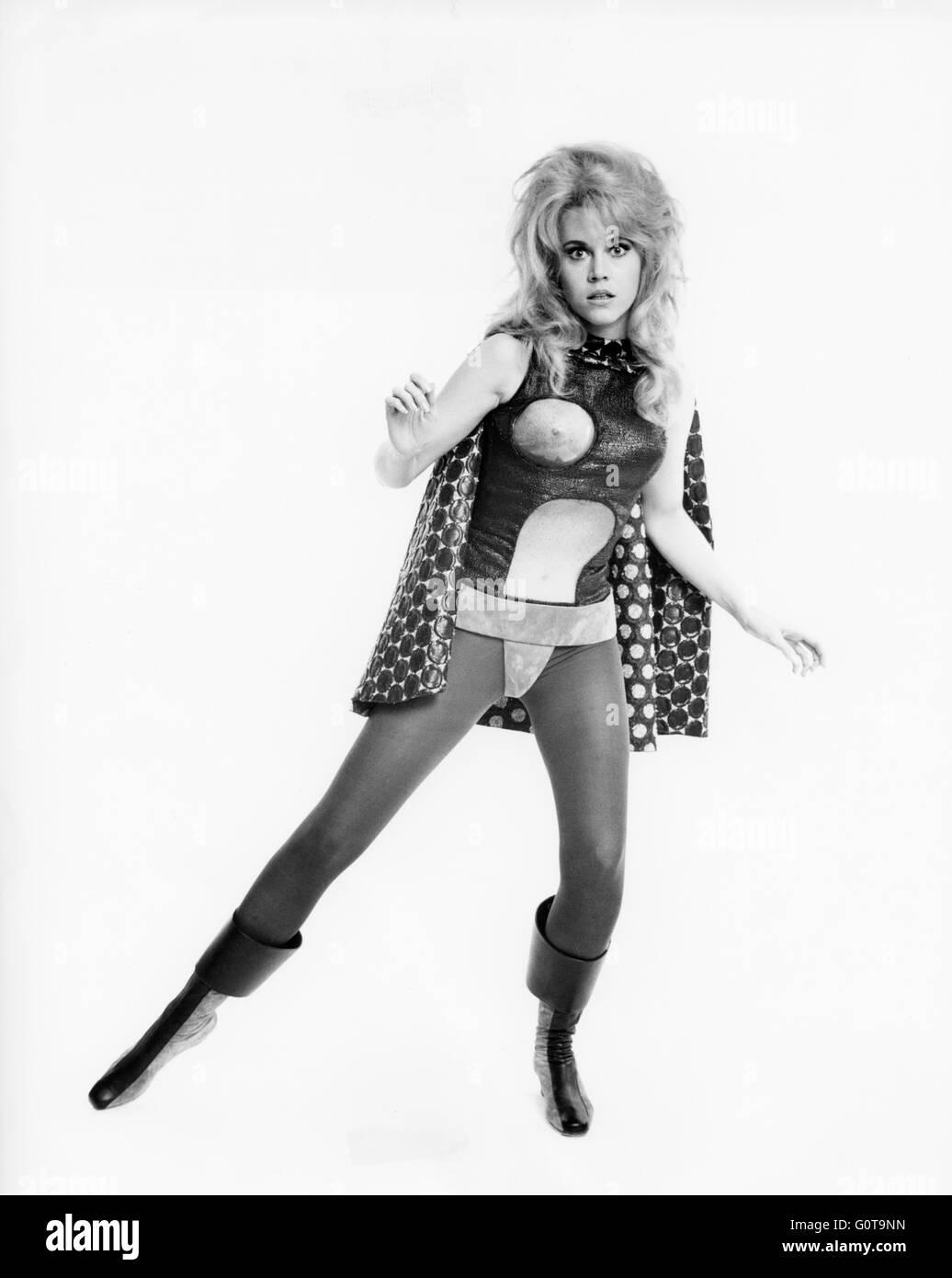 Jane Fonda / Barbarella / 1967 réalisé par Roger Vadim [Paramount Pictures] Banque D'Images