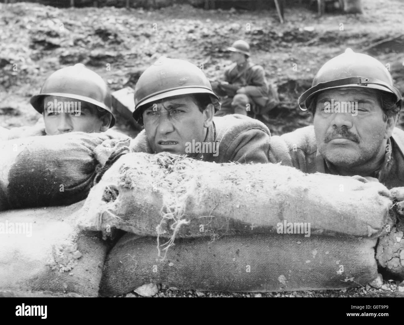 Vittorio Gassman, Alberto Sordi et Folco Lulli / La Grande guerre / 1959 réalisé par Mario Monicelli (Cinematografica Banque D'Images