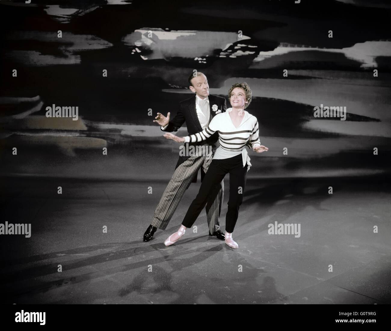Fred Astaire et Leslie Caron / Daddy Long Legs / 1955 réalisé par Jean Negulesco (Twentieth Century Fox Film Corporation) Banque D'Images