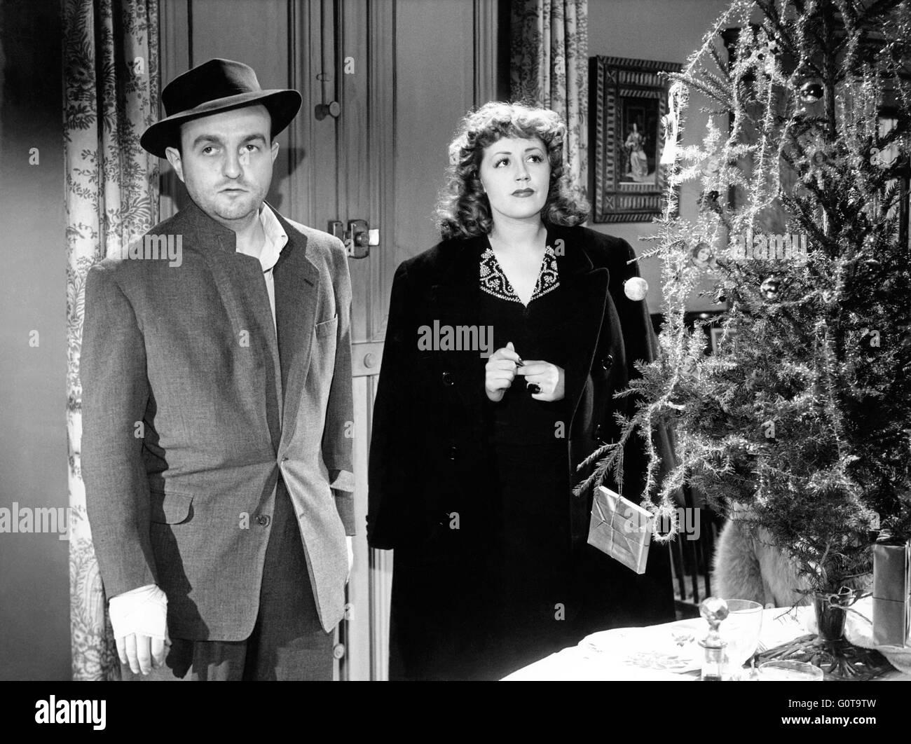 Bernard Blier et Suzy Delair / Quai des Orfèvres / 1947 réalisé par Henri-Georges Clouzot (Majestic-Film) Banque D'Images