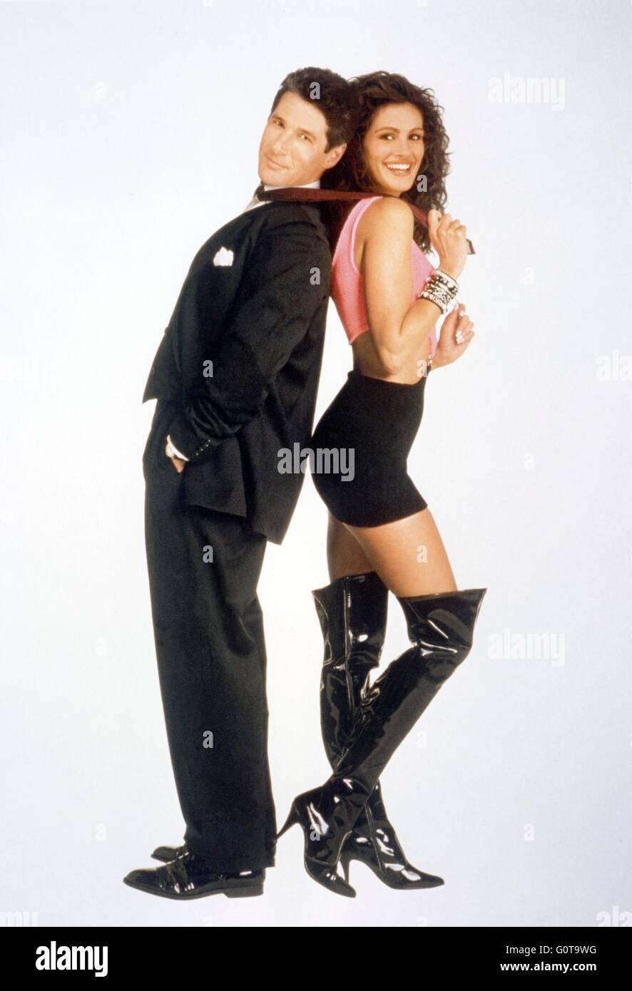 Richard Gere et Julia Roberts / Pretty Woman / 1990 réalisé par Garry Marshall (Touchstone Pictures / Silver Screen Banque D'Images