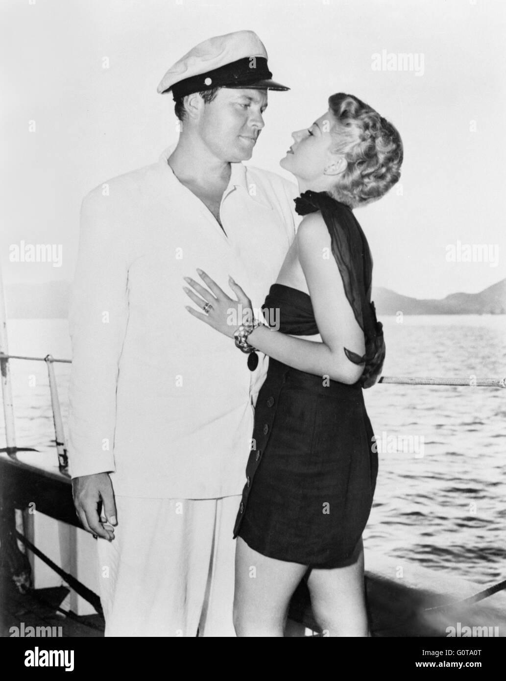 Orson Welles et Rita Hayworth / La Dame de Shanghai / 1948 réalisé par Orson Welles (Columbia Pictures) Banque D'Images