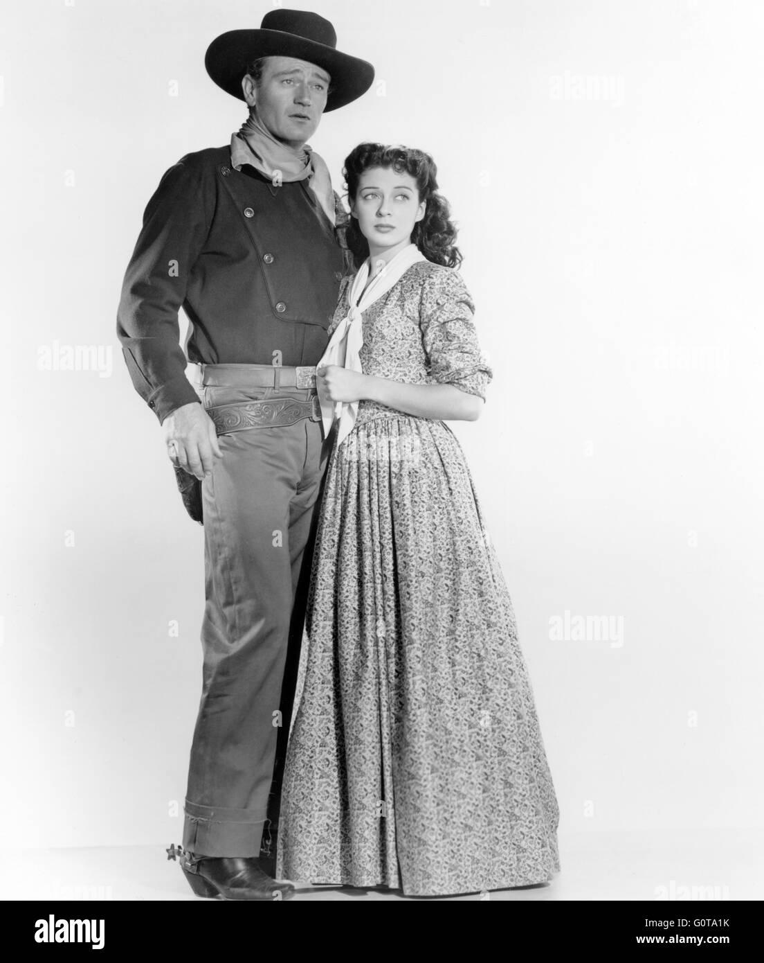 John Wayne et Gail Russell / Angel et le Badman / 1947 réalisé par James Edward Grant (Republic Pictures) Banque D'Images