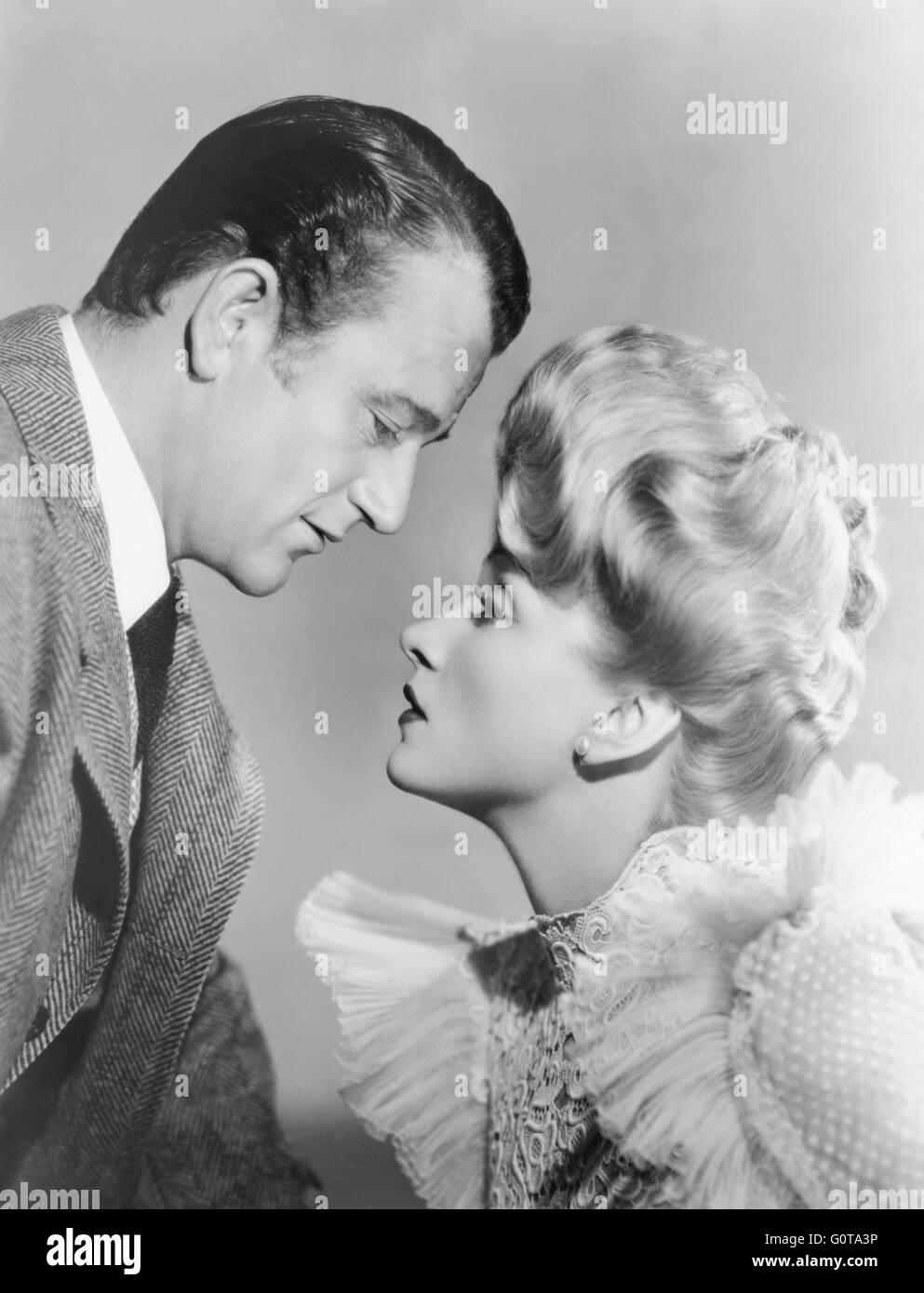 John Wayne et Marlene Dietrich / les déporteurs / 1942 réalisé par Ray Enright (Universal Pictures) Banque D'Images