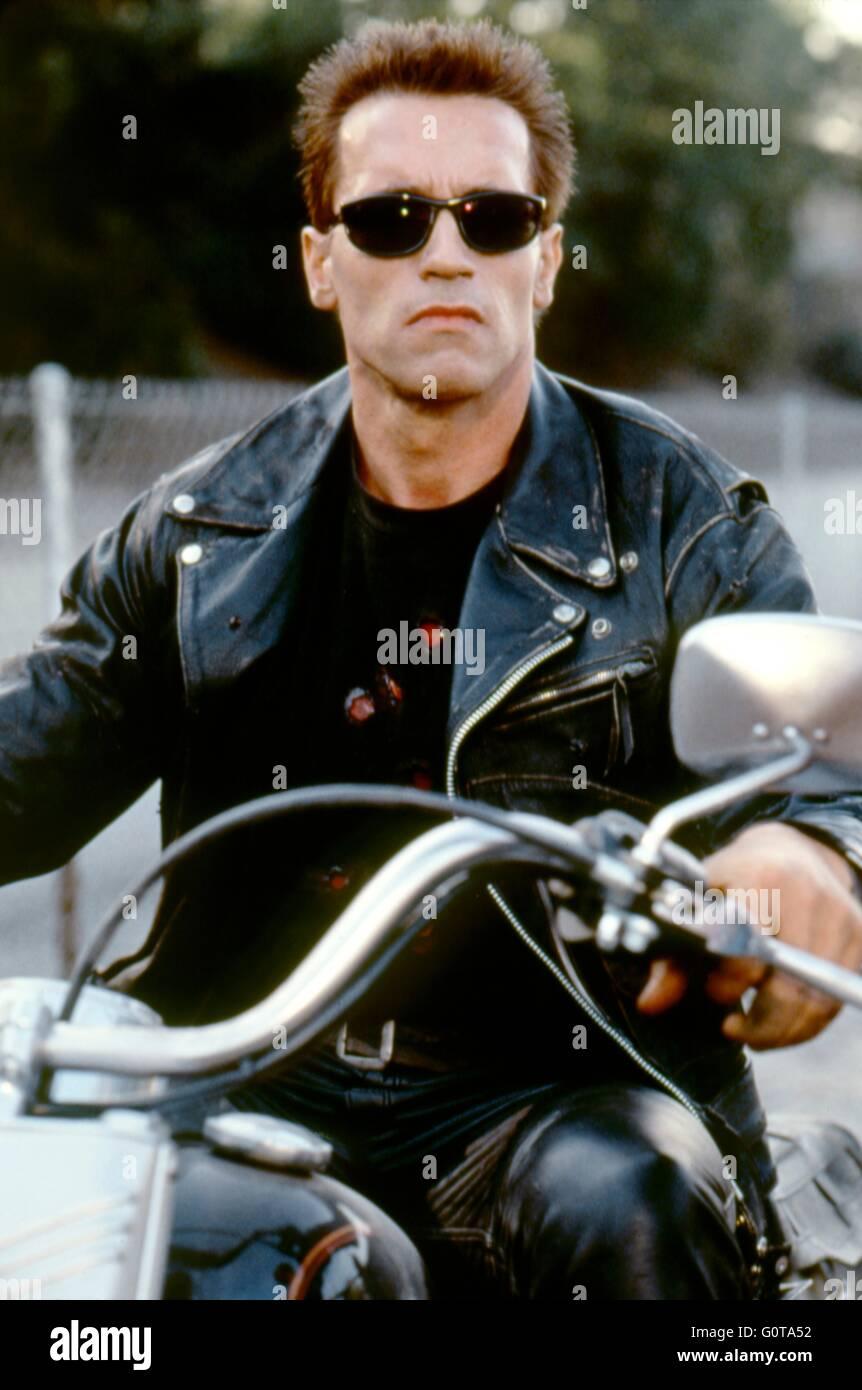Arnold Schwarzenegger / Terminator 2: Judgement Day / 1991 réalisé par James Cameron (Carolco Pïctures) Banque D'Images