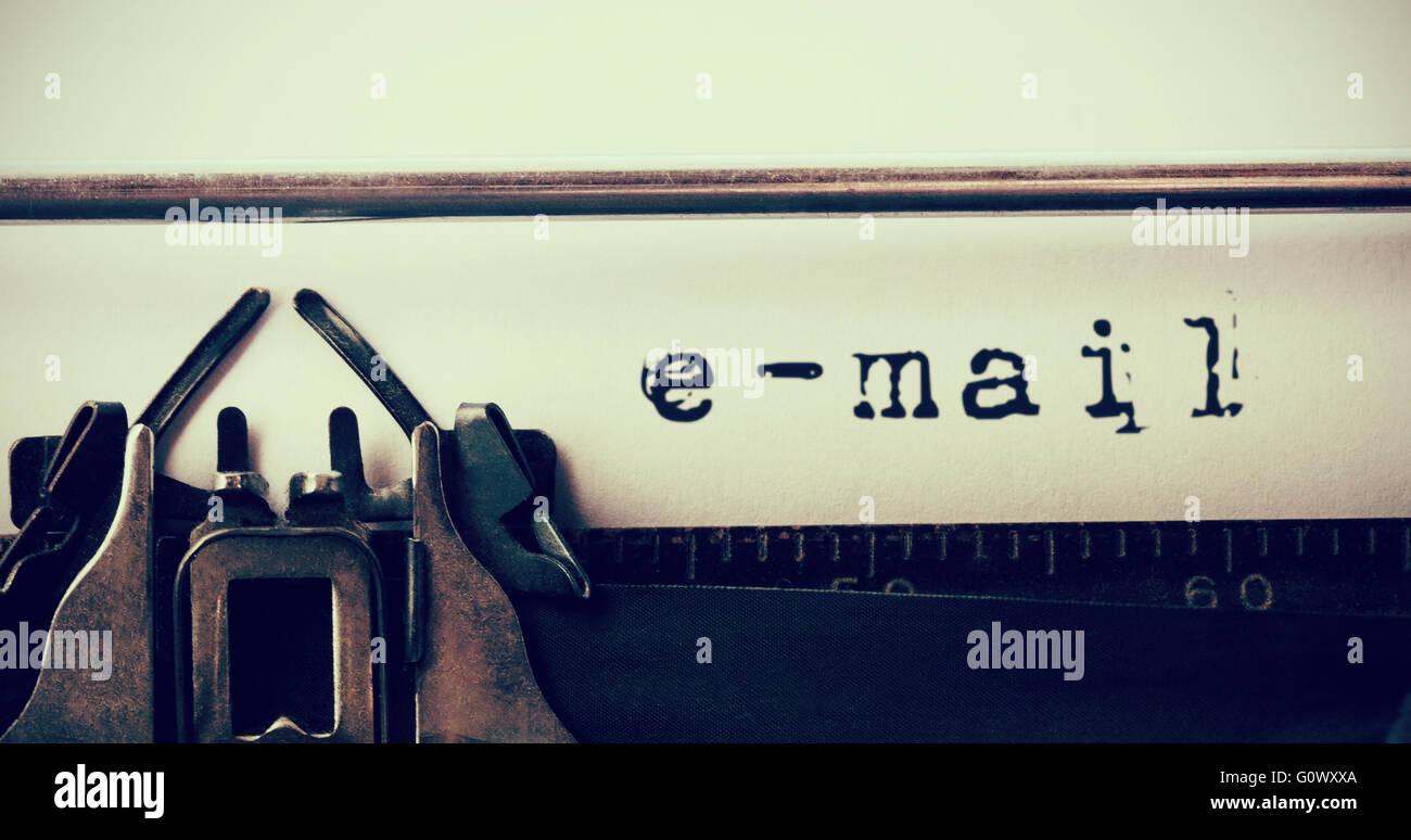 Image composite de l'e-mail Message Photo Stock