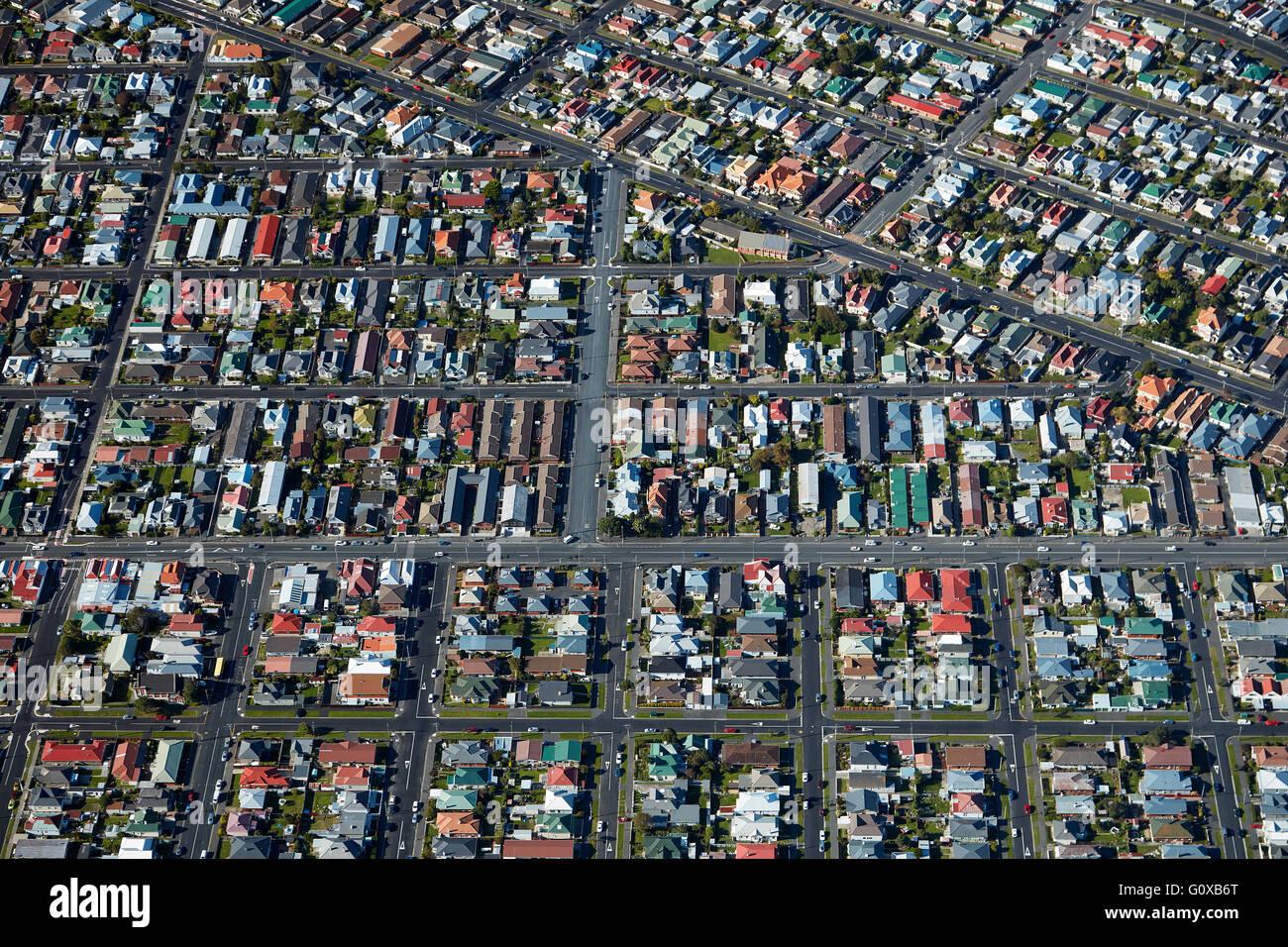 St Kilda, Dunedin, Otago, île du Sud, Nouvelle-Zélande - vue aérienne Banque D'Images